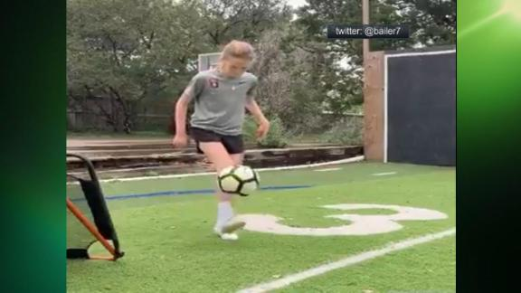 Youth soccer player gets nothing but net