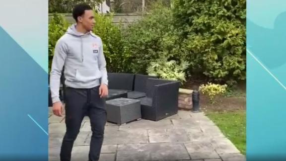 Alexander-Arnold aces target practice in his garden