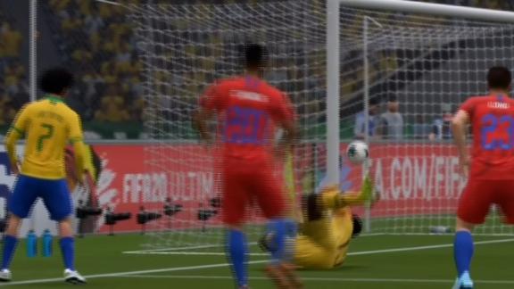 Everton Ribeiro scores from insane angle to double advantage