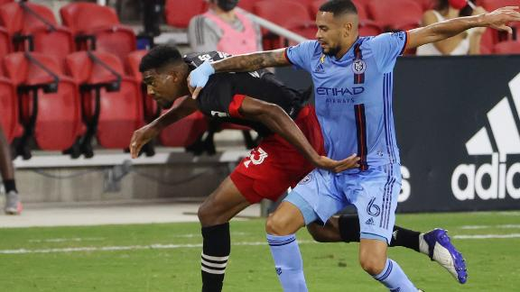 NYCFC's win streak stopped by D.C. United