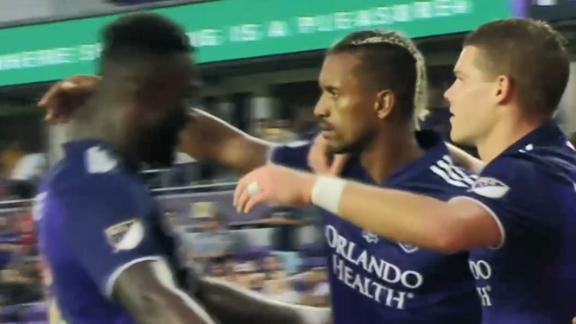 Nani buries an early penalty kick for Orlando City