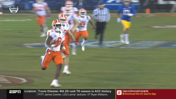 Clemson RB escapes for 75-yard TD on opening play