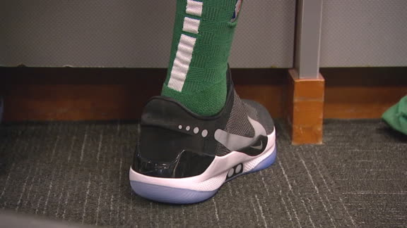 Tatum rocks Nike's new self-tying shoes