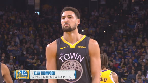 Lakers' fans chant 'We want Thompson' at Oracle
