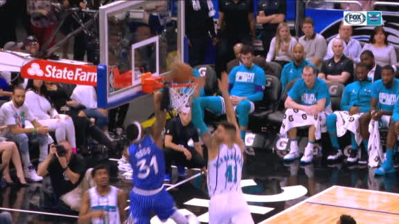 Ross goes up-and-under for incredible dunk