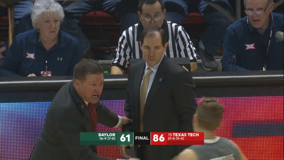 Texas Tech coach furious after slam at end of blowout win