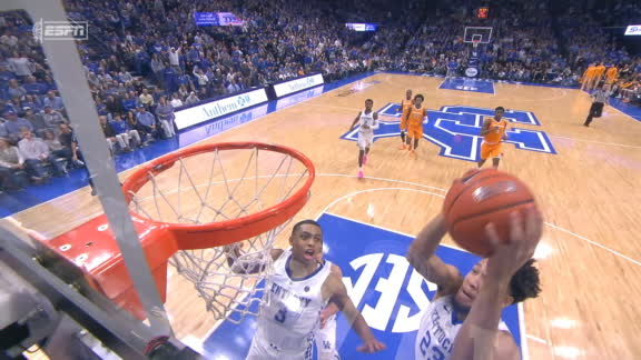 Travis' block leads to powerful Montgomery slam