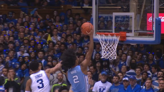 UNC's quick pace leads to White's lay-in