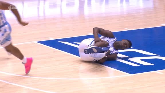 Zion in pain after shoe comes apart