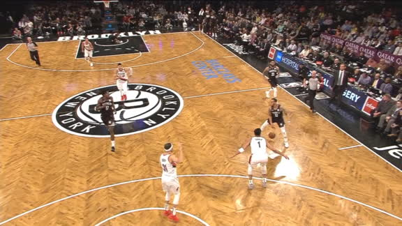 Napier's no-look, between-the-legs pass leads to Crabbe 3