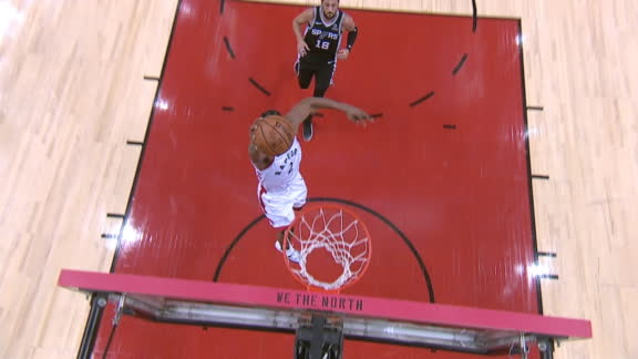 DeRozan's turnover leads to Leonard's big dunk