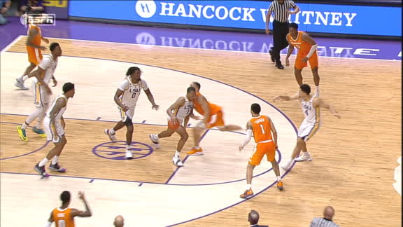 Crucial OT foul leads to LSU defeating Tennessee
