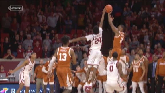 Oklahoma freshman blocks shot to seal victory