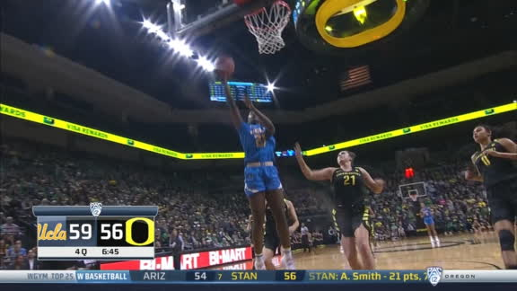 UCLA's Burke finds Onyenwere with full-court pass