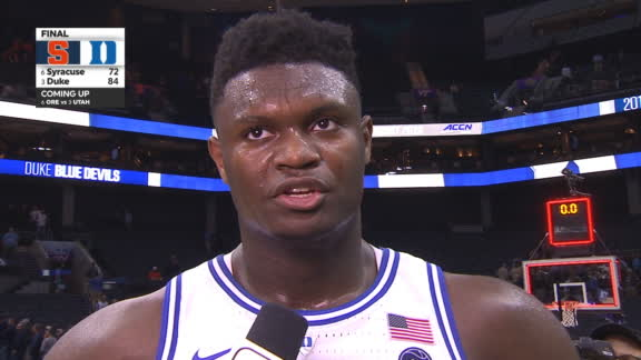 Zion on decision to play: 'I can't leave my boys hanging'
