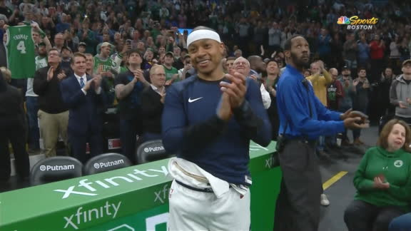 Celtics tribute Thomas, receives warm ovation from crowd