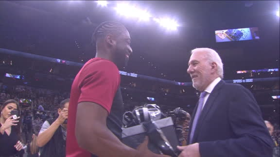 Pop gives Wade signed Duncan, Parker, Ginobili jerseys