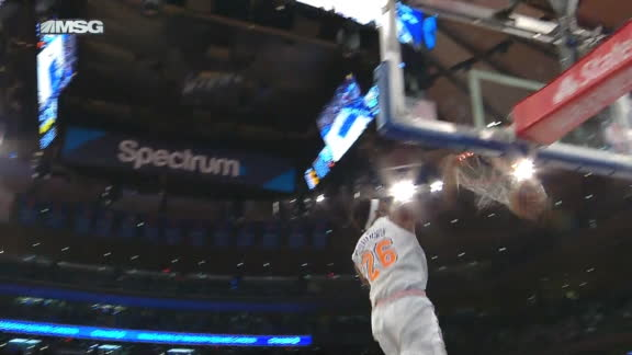 Robinson comes up with big block and slam