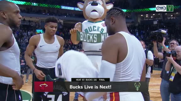 Wade exchanges jerseys with Middleton and Giannis