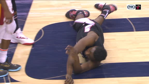 Bryant flops, rolls away from the scene