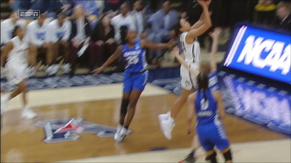 UConn gets out in transition leading to Collier layup