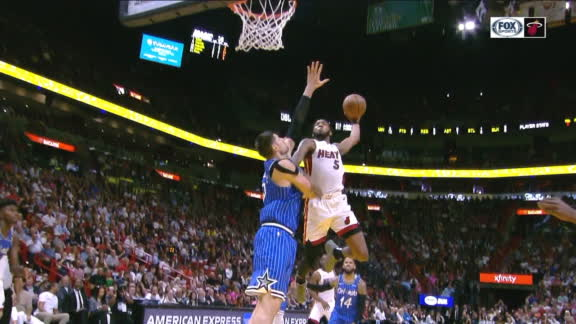 Jones' posterizing slam on Vucevic gets Bosh out of his seat