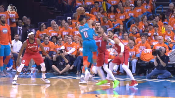 Westbrook rocks Lillard to sleep after big shot