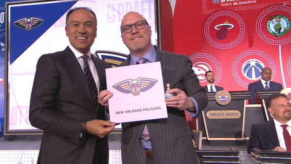 Pelicans get No. 1 pick in the draft