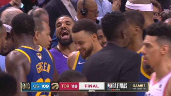 Drake trash-talks Draymond after Game 1