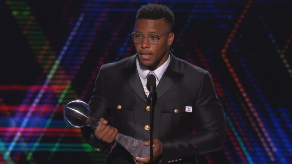 Saquon Barkley thanks Giants, family after Best Breakthrough Athlete award