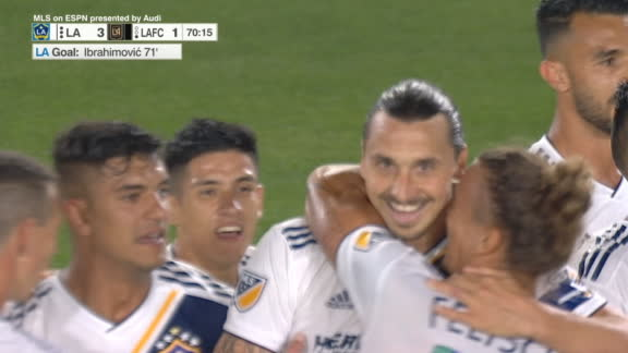 LA Galaxy's Zlatan completes his hat trick