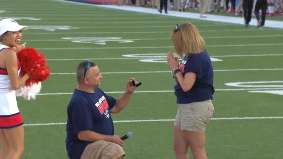 Liberty fan gets down on one knee and proposes