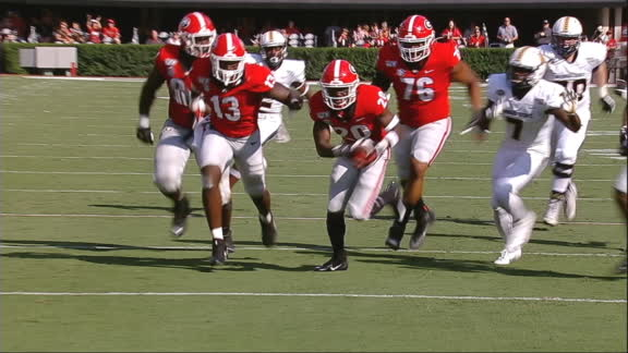 Reed completes Georgia's scoop-and-score