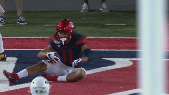 Arizona's Tate goes long to Cunningham for TD