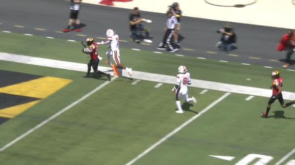 Syracuse WR Jackson stiff arms way into end zone