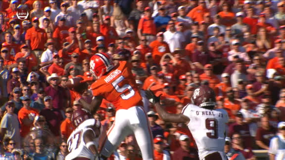 Higgins' great catch leads to Lawrence TD