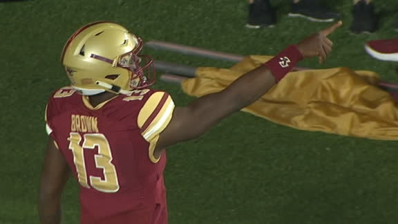 BC QB Brown catches TD on trick play