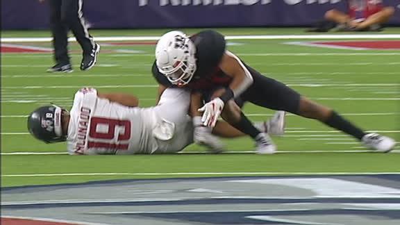 Houston DB lights up WR on huge hit