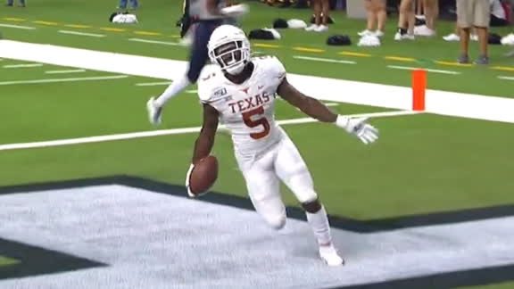 Jamison returns kickoff 98 yards in final minute of Texas' rout