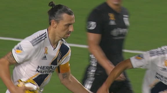Zlatan misses penalty but puts in the rebound