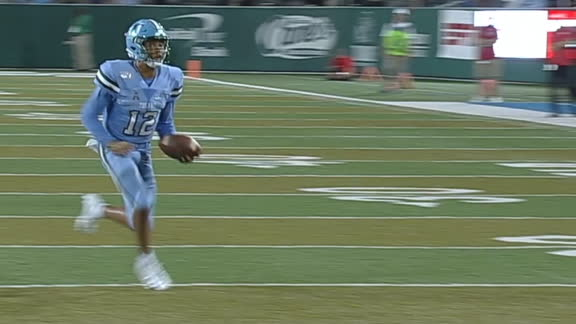 Tulane ties game with QB keeper