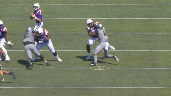LSU lineman stuffs two defenders on same play