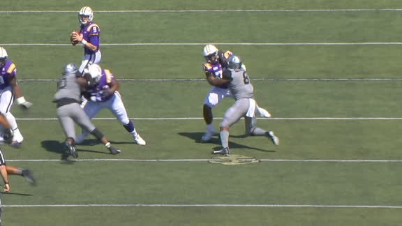 LSU lineman stuffs two defenders on same play