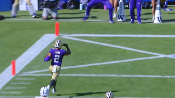 Washington's Fuller houses 89-yard punt return