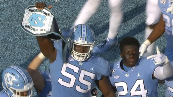 UNC breaks out turnover belt with fumble recovery