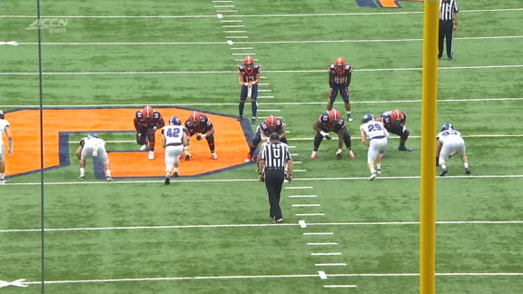 Harris avoids multiple tackles for 47-yard Cuse TD