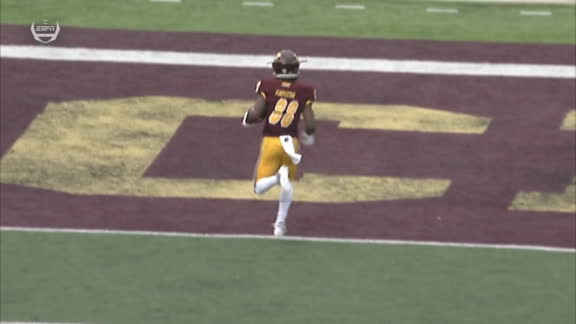 Moore hits Pimpleton in stride for 80-yard TD