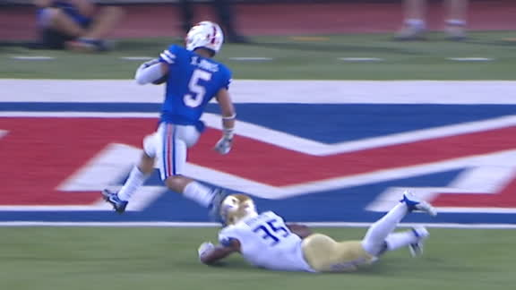 SMU's Jones scores game-tying TD late in the 4th