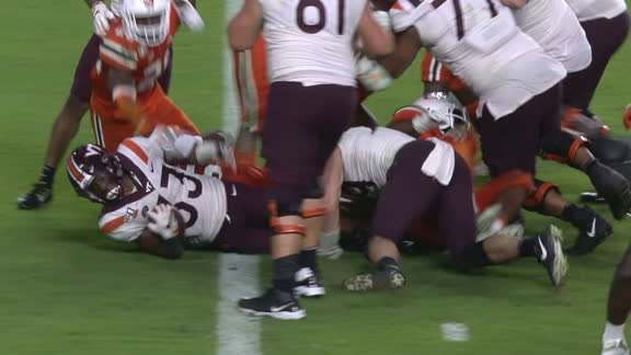 VA Tech survives on McClease diving in for game-winning TD