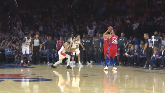 Simmons drains 3-pointer, crowd erupts